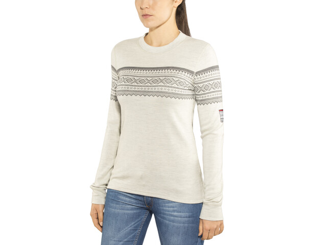 Aclima DesignWool Marius T-shirt Manches longues Col ras-du-cou Femme, gråfjell